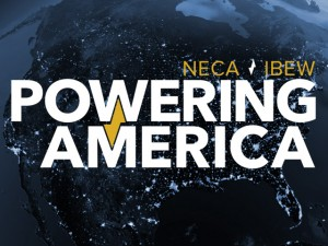 NECA, IBEW Powering America Logo