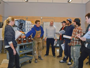 Workers receiving training